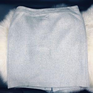J. Crew Mercantile Wool Lined Grey Skirt 14